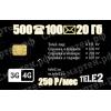 Тариф TELE2 для  смартфона «Большой S» 250 руб/мес купить в Краснодаре