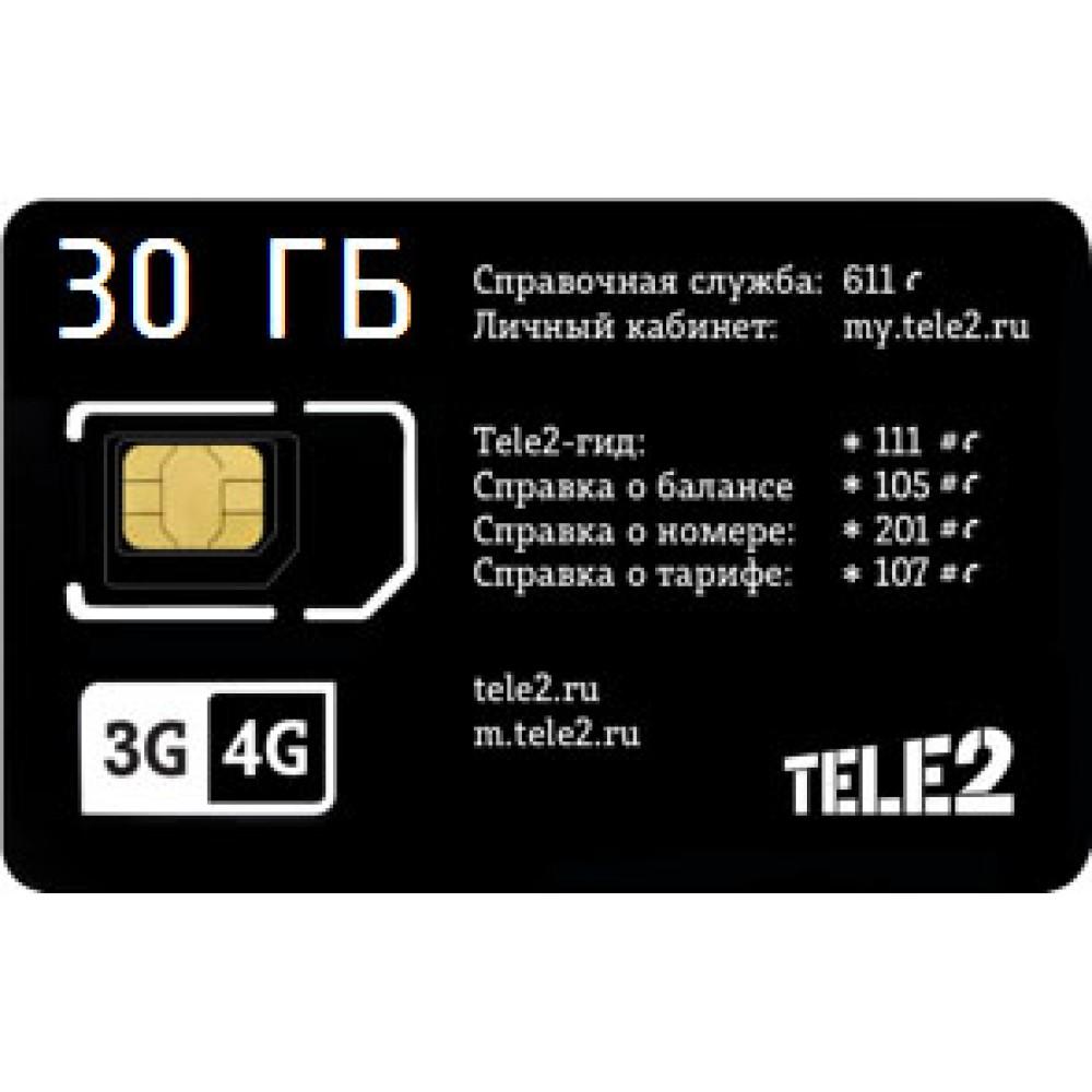 Тариф TELE2 «S» Пакет 30 Гб за 240  ₽/мес. купить в Краснодаре
