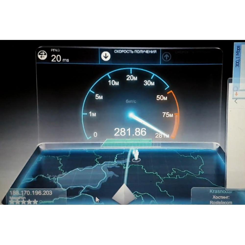 Тест качества LTE сигнала и скорости безлимитного интернета от сотовых операторов за пределами города Краснодар